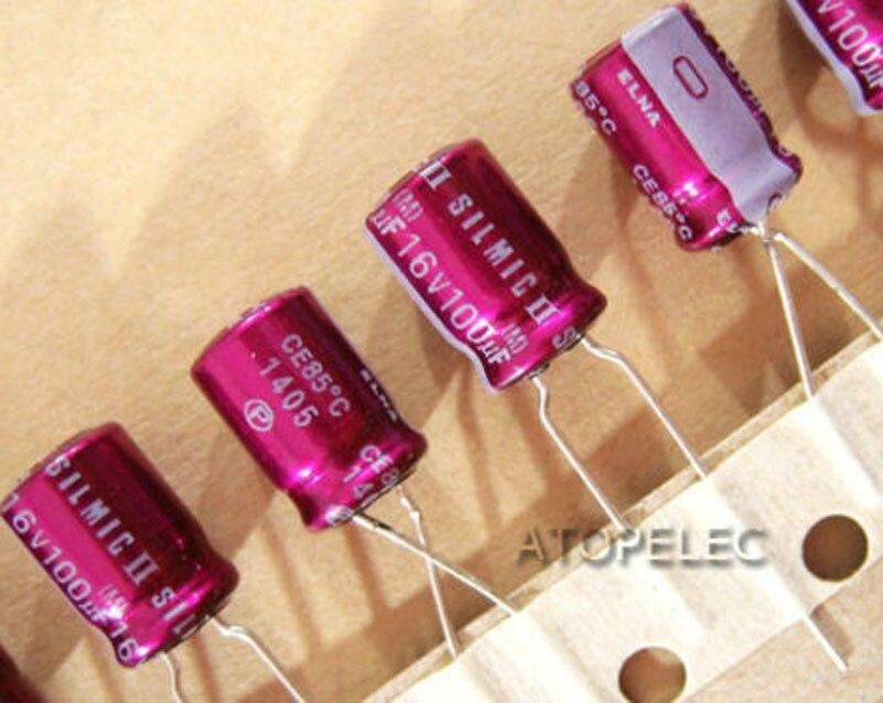 1 pc 새로운 elna silmic ii 100 미크로포맷/16 v 전해 콘덴서 hifi 오디오