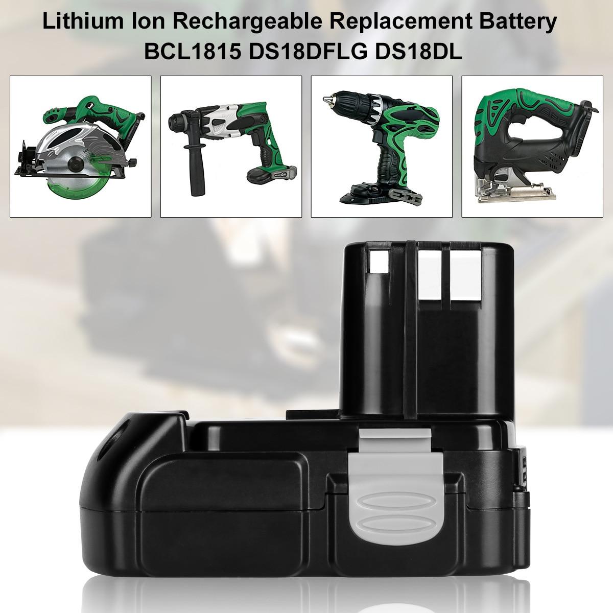 18V 2.0Ah بطاريّة ليثيوم قابلة لإعادة الشحن ل هيتاشي BCL1815 BCL1830 EBM1830 DS18DFL CJ18DL DS18DL WR18DMR الطاقة أدوات Batteria