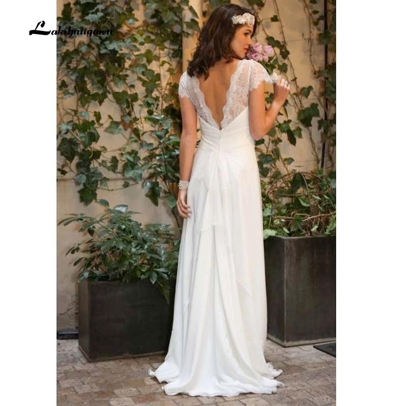 Западное свадебные платья в стиле Country 2021 кружевное шифоновое скромное длинное богемное свадебное платье размера плюс свадебное платье