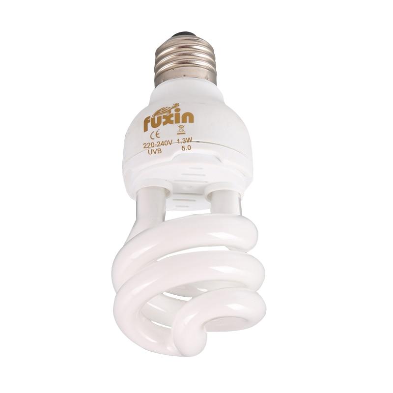 Амфибии и рептилии UV / UVB спиральный сжатый светильник 5,0-10,0 13 Вт лампа ящерица черепаха, змея N8
