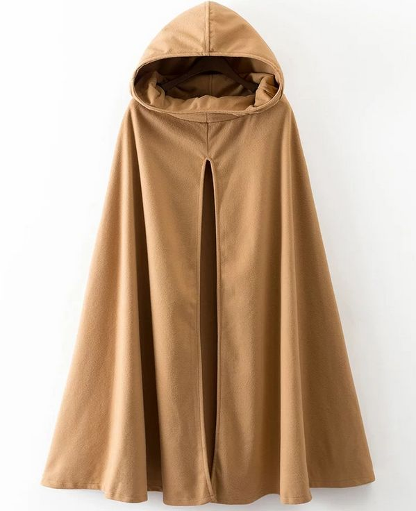Nueva capa de lana con capucha Vintage étnica de otoño para mujer, capa de lana con cuello de tortuga y manga de hombro caído