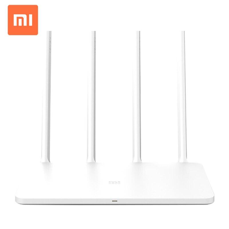 Versión en inglés Xiaomi mi Router WiFi 3 Smart Router 4 antenas 1167Mbps 802.11ac b/g/n WIFI de banda Dual 2,4G/5G apoya APP