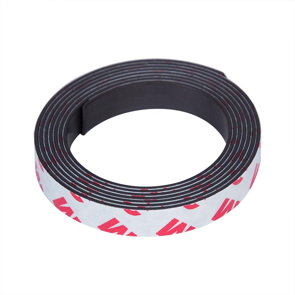 1 metro de goma magnética 10*1mm de ancho de cinta 10 mm de espesor 1 mm banda magnética de goma Flexible autoadhesiva