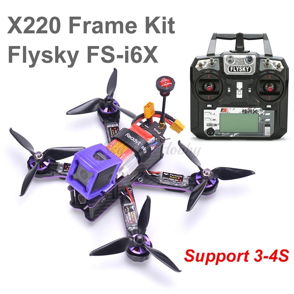 X220 220mm Quadcopter marco F3 Acro de Control de vuelo Littlebee 30A BLHeli_S CES 2205 Motor 5065/Flysky FS-i6X para mago X220S