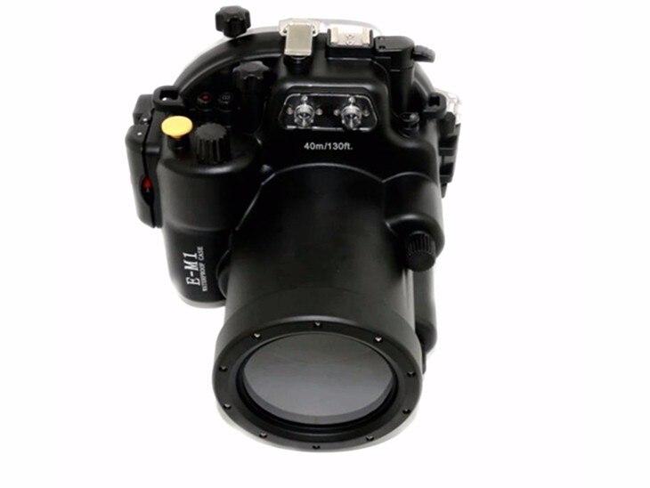 Carcasa de buceo impermeable para cámara Olympus EM1 E-M1 12-40mm envío gratis