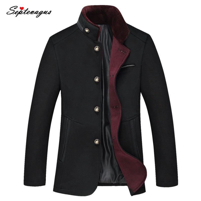 Chaqueta de abrigo de invierno a la moda para hombre, abrigo informal...