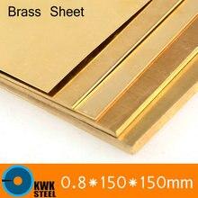 Plaque en laiton 0.8*150*150mm de CuZn40 2.036 CW509N C28000 C3712 H62 taille personnalisée découpe Laser NC livraison gratuite