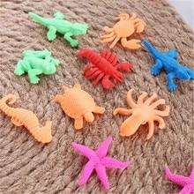 10 pièces/lot jouets bébé océan Animal magique jouet croissant éducatif dans leau mer créature animaux en vrac houle pour garçons filles cadeau