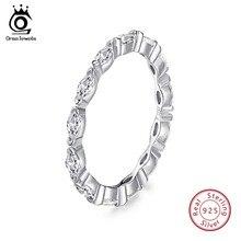 ORSA JEWELS 100%, женские кольца из твердого 925 пробы серебра AAA CZ, обручальное кольцо Marquise Cut Eternity, модное ювелирное изделие для женщин SR70