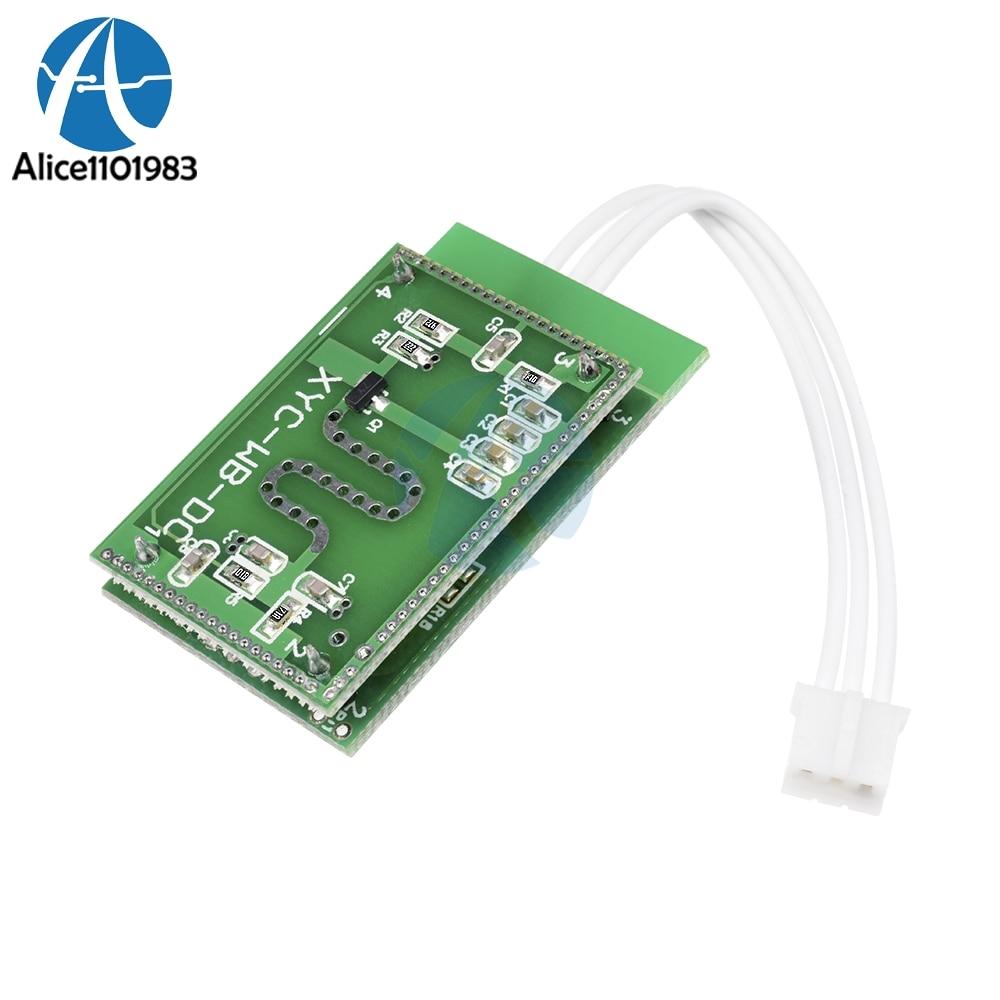 Sensor de Radar de microondas de 5,8 GHZ 6-9M interruptor inteligente para el Control del hogar 3,3-20V DC TTL nivel Anti-interferencia de alta sensibilidad sin puntos muertos