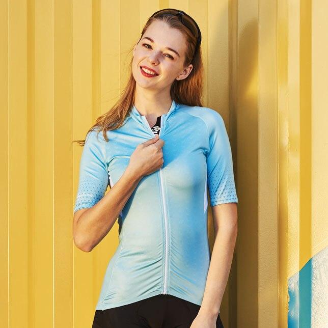 Camisa de Ciclismo Camisa da Bicicleta Santic Mulheres Ajuste Estrada Mtb Manga Curta Verão S-xl Camisa Ciclismo 2022 Pro