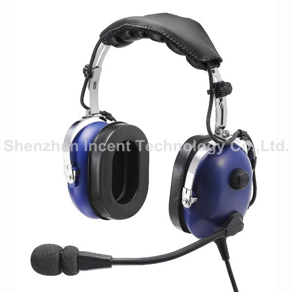 VOIONAIR Black Pilot Headset PNR (Passive Noise Reduction) Aviation Headset IN-1000 enlarge