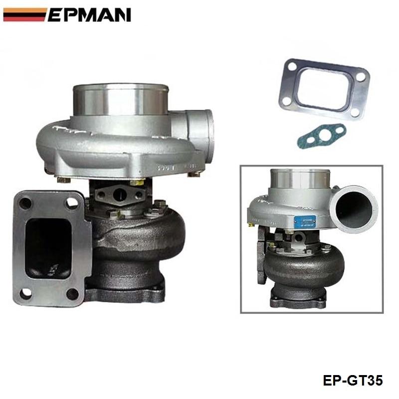 Cargador turbo rápido GT35 GT3582R compresor A/R 0,70 turbina A/R 82 T3 brida flotador húmedo rodamiento 4 pernos 400-600hp EP-GT35