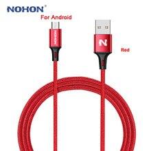 NOHON Original, Cable Micro USB para Samsung, Huawei, HTC, Nokia, Android, cargador rápido de teléfono móvil, Cable USB de carga, Cable de sincronización de datos