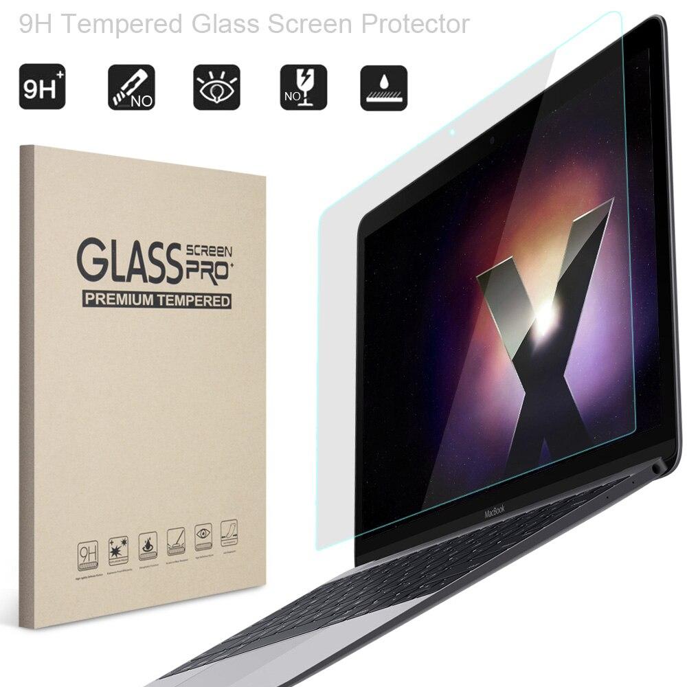 """Protector de pantalla de vidrio para Macbook Air de 13 pulgadas, YWVAK 9H película protectora templada para Mac Book Air 13,3 """"modelo A1466 A1369"""