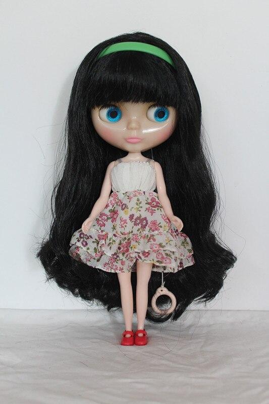 Фото Кукла Blygirl Blyth с челкой черные волосы Обнаженная кукла прозрачная кожа обычная