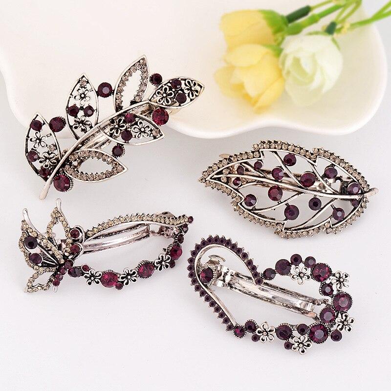 Pasador de pelo de moda de cristal accesorios para el cabello Clip pasador horquilla accesorios de cristal de moda elegante Popular