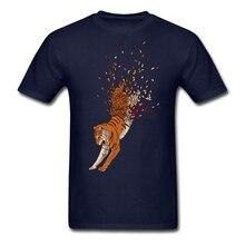 Les chemises de rappeur dhommes de coton organique ont disparu avec le meilleur vêtement de tigre de vent pour la chemise dhommes de conception propre de BF