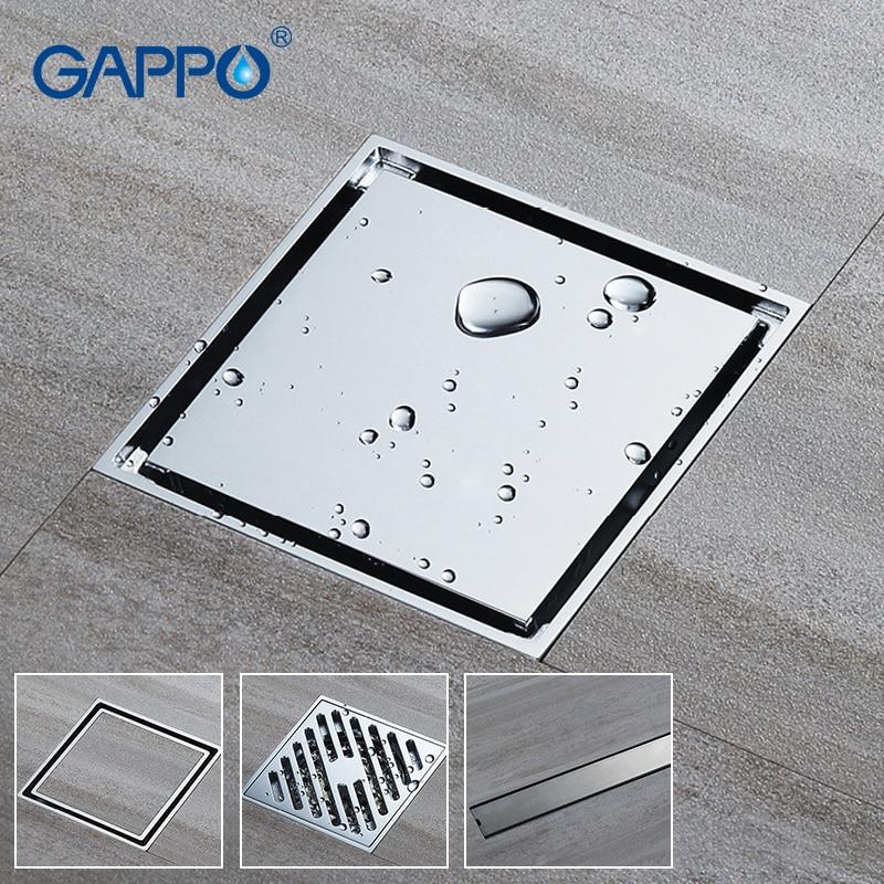 GAPPO-مصفاة دش مربعة ، مصفاة دش ، غطاء أرضي للحمام ، مضاد للرائحة