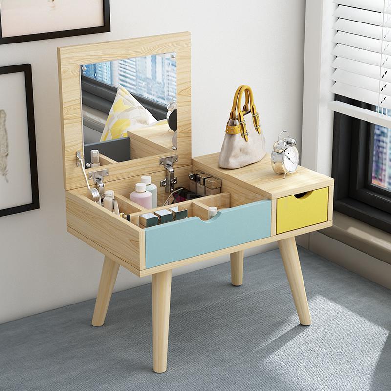 Простой ins туалетный столик для эркера маленькой квартиры комод студенческой