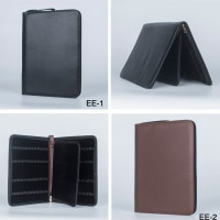 Fountain/Rollerball Pen bag /papelaria pencil pouch / metal zipper PU Leather Case for 48 Pens - pencil case
