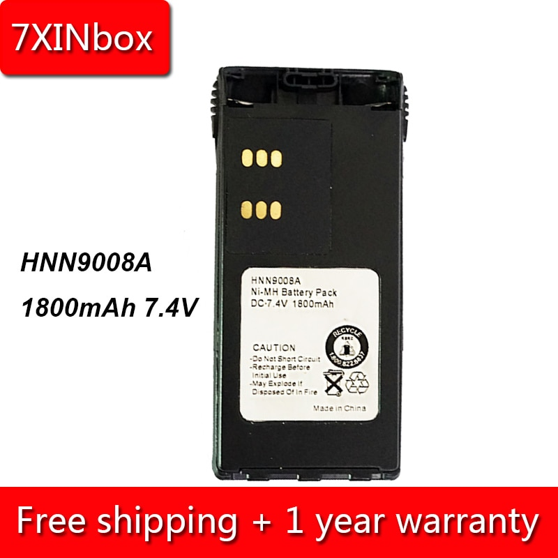 Аккумулятор 7XINbox, 1800 мАч, 7,4 В, hn9008a, hn9009a, hn9011r, hn9012, для Motorola GP140, GP240, GP280, GP640, HT750, HT1250, MTX8250, MTX950
