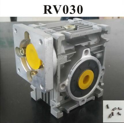 مخفض دودي علبة التروس ، من 5:1 إلى 80:1 ، RV030 ، مع محول جلبة عمود الإدخال 8 مللي متر لمحرك Nema 23