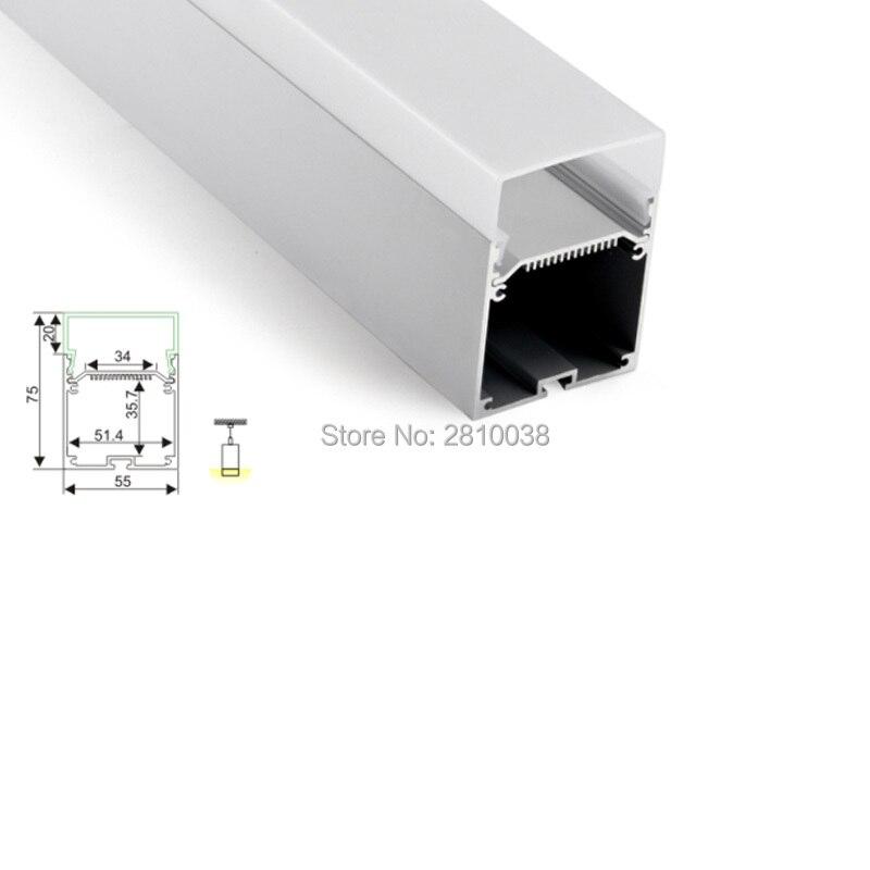100X 1M Sets/Lot Al6063 T6 aluminium profile for led strips and Deep U recessed aluminium led profile for suspension lighting