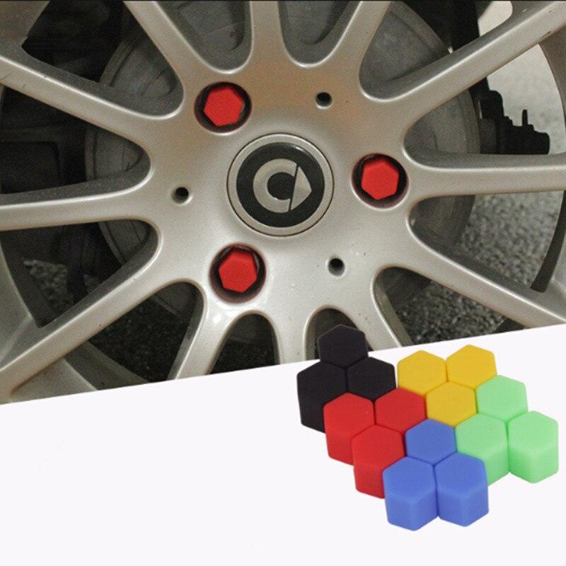 20Pcs Silikon Auto Rad Hub Schraube Abdeckung Mutter Kappen für Mitsubishi ASX/Outlander/Lancer Evolution/Pajero/Eclipse/Grandis