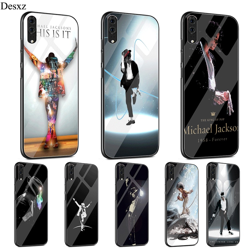 Funda de cristal para teléfono móvil Michael Jackson para Huawei P Smart Mate 20 P10 P20 P30 9 10 Lite Pro Y6 Y9 8X 7A
