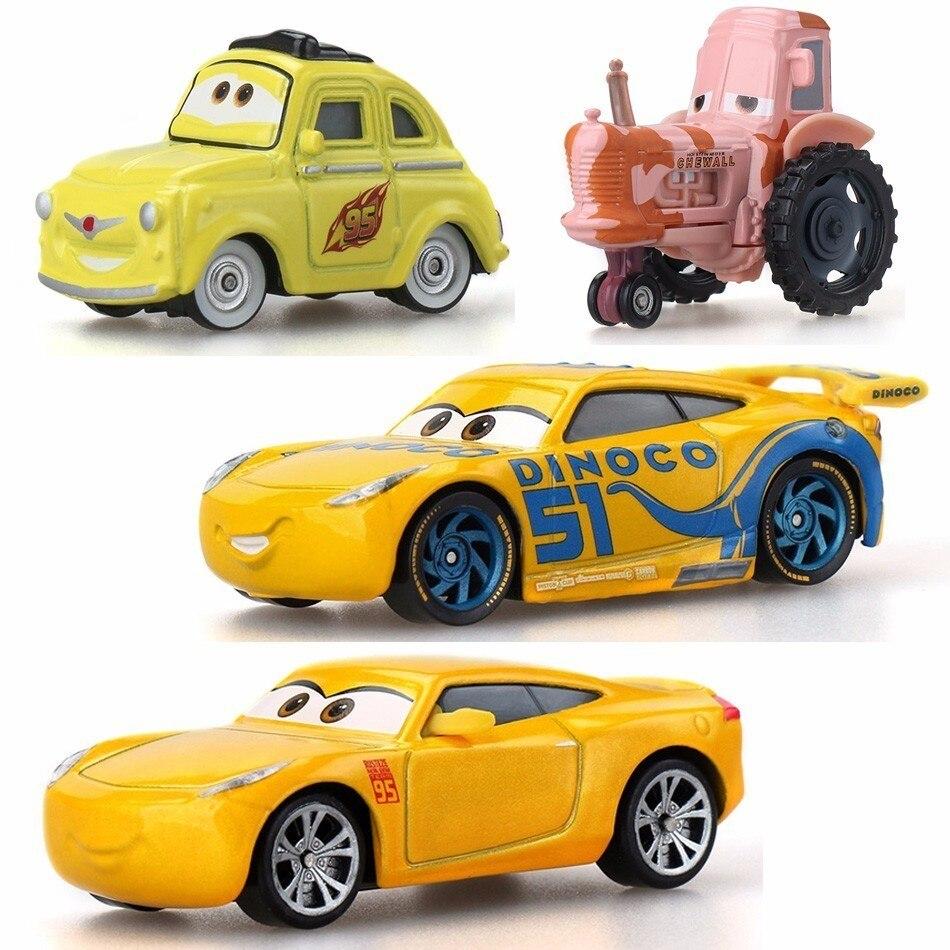 Disney Pixar желтые тачки 3 для детей шторм Круз рамиреа высококачественные пластиковые игрушечные машинки модели персонажей из мультфильмов По...