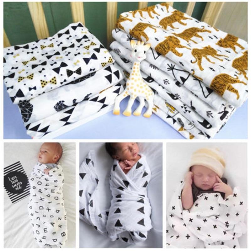 1 manta suave de muselina 100% de algodón para bebé, manta de gasa para el baño para recién nacidos, manta para dormir para bebé