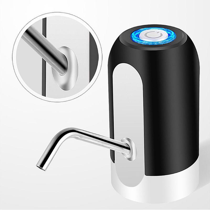 Bomba de presión automática portátil, dispensador eléctrico inalámbrico de agua potable, dispensador USB recargable para el hogar