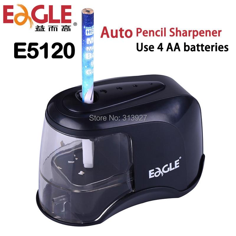Sacapuntas eléctrico automático con batería para lápices de colores, color negro, Sacapuntas...