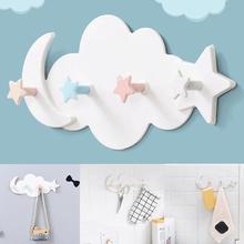 Offre spéciale! Crochet de porte mural mignon en forme de nuage   Jolie étoile de lune, support de cintre de chambre à coucher et salle de bain, décor de maison, nouveau
