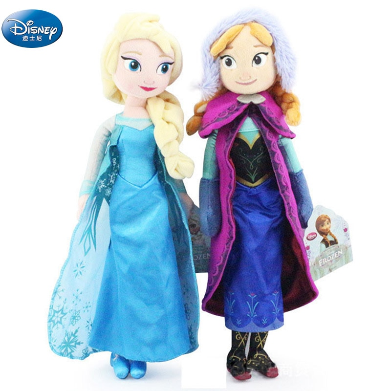 40 CM frozen Princess Anna& Elsa  Plush toys  cute Dolls Soft Pillows for baby kids for Birthday Dear person gift