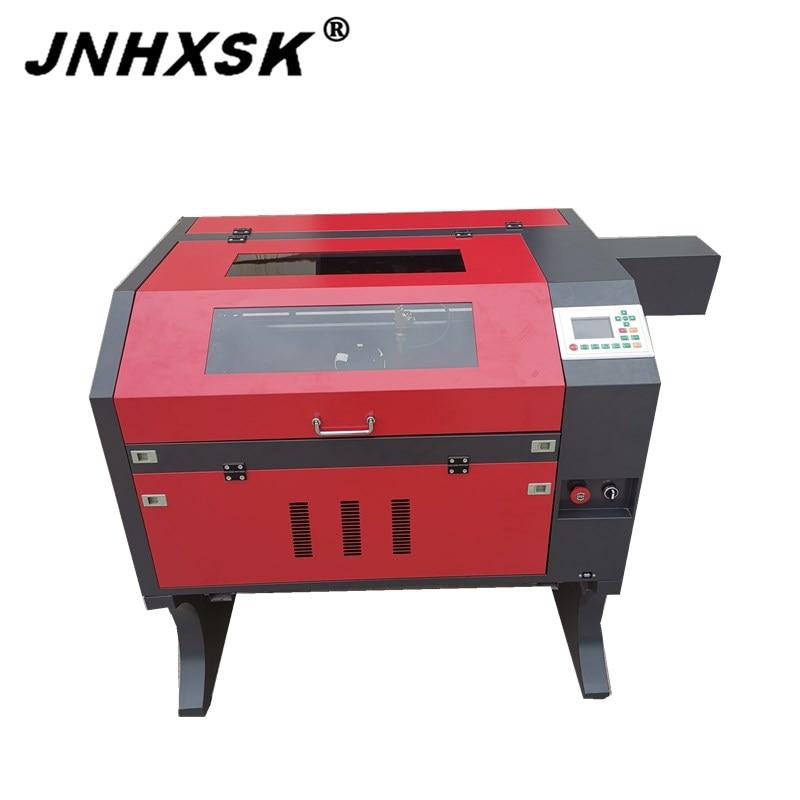 JNHXSK laser engraver 60 w watt EFR cnc router laser maschine verwendet kristall leder gummi stempel tuch DIY desktop cutter maschine