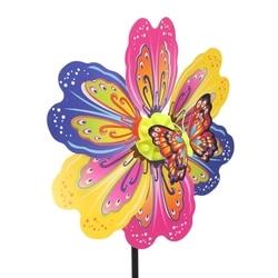 3D Schmetterling Blume Windmühle Multicolor Wind Spinner Home Garten Hof Dekoration Kinder Spielzeug Geschenk