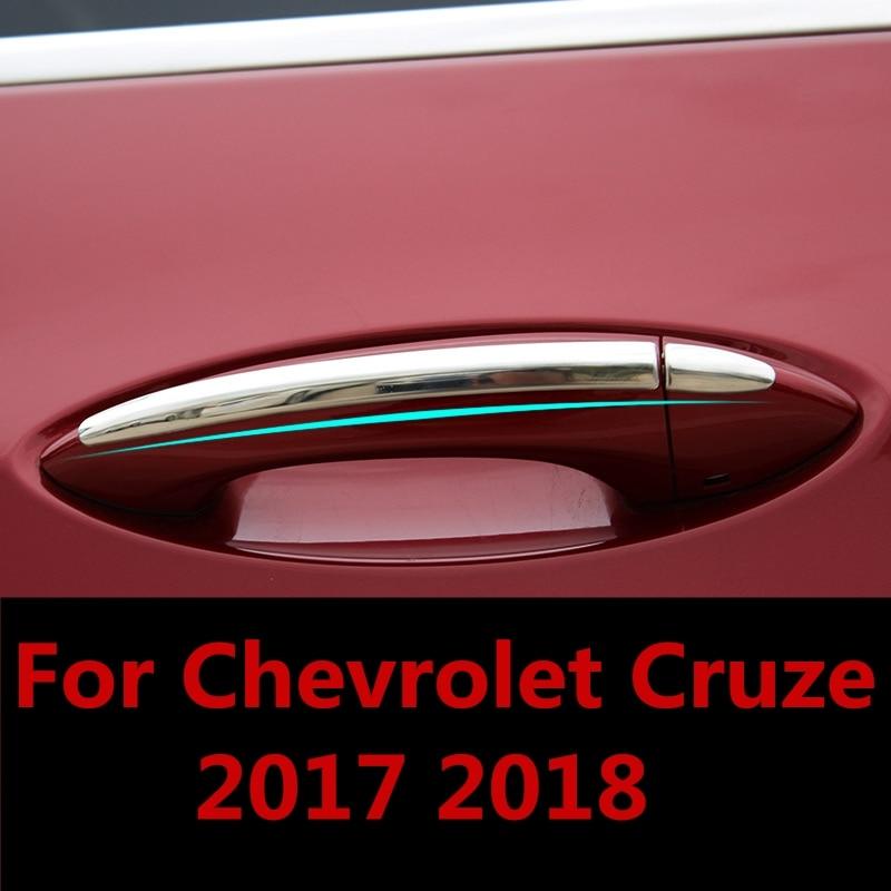Forma del coche protector para manija de puerta exterior para marco de hueco de puerta pegatina embellecedora, accesorios de tazón de la puerta de decoración para Chevrolet Cruze 2017, 2018