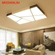 Dikdörtgen Demir Modern Led tavan ışıkları oturma yemek odası yatak odası Otel AC85-265V Beyaz ve Siyah Tavan Lambası Fikstür
