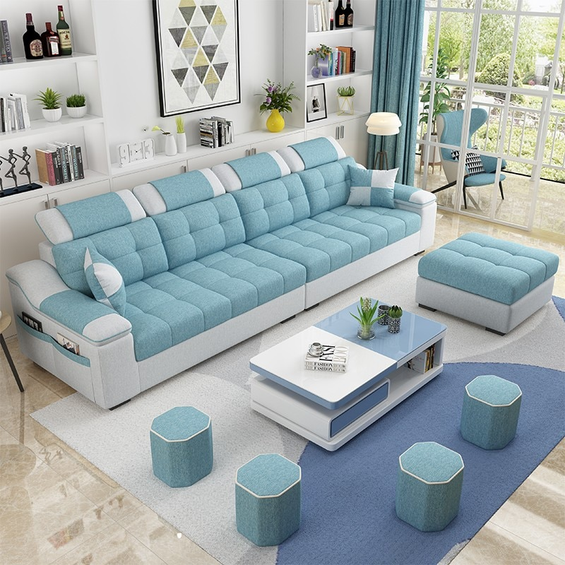Easyliving 2019 tela sofá hogar Sala muebles simple estilo moderno