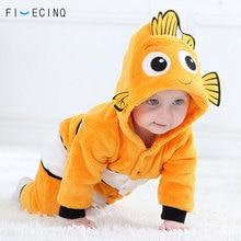 Poisson Kigurumis bébé dessin animé Cosplay Costume jaune mignon Animal enfants Costume petit garçon fille cadeau de noël hiver chaud Anime pyjama