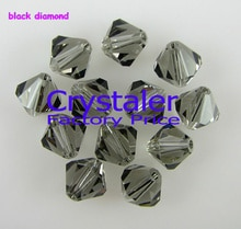 K9 Kristall 5301 # Grade AAAA 3mm 4mm 6mm 8mm schwarz diamant farbe Kristall Doppelkegel Perlen
