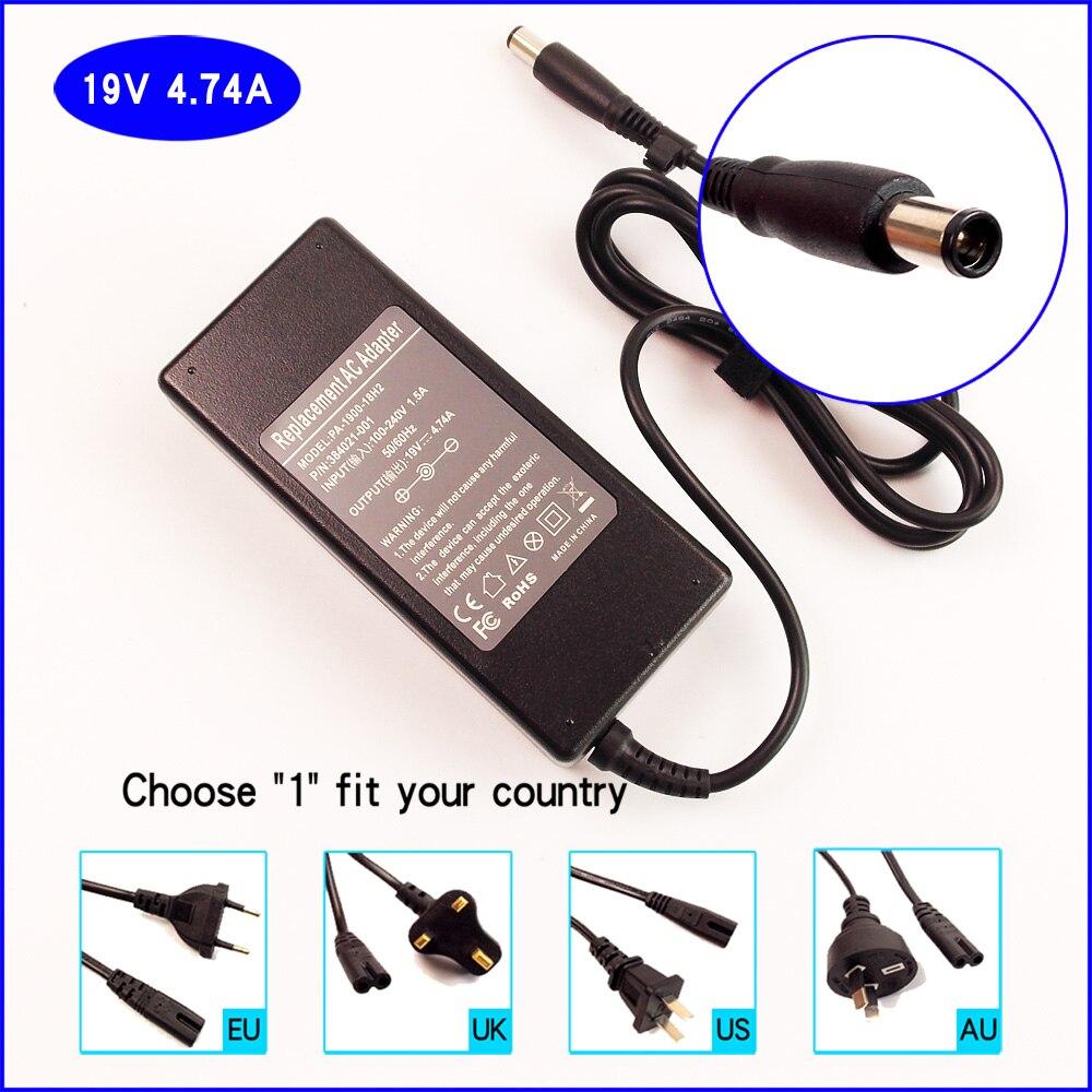 Cargador de batería del adaptador de la CA del ordenador portátil/del ordenador portátil de 19V 4.74A para HP EliteBook 2530p 2730p 6930p 8730w 8530p 8530w