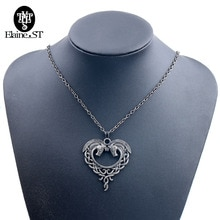 Wholesale 10Pcs Fantasy Horse Lords Necklace Vintage Chain Horse Heart Necklace Women Collier Femme Jewellery Party Accessories