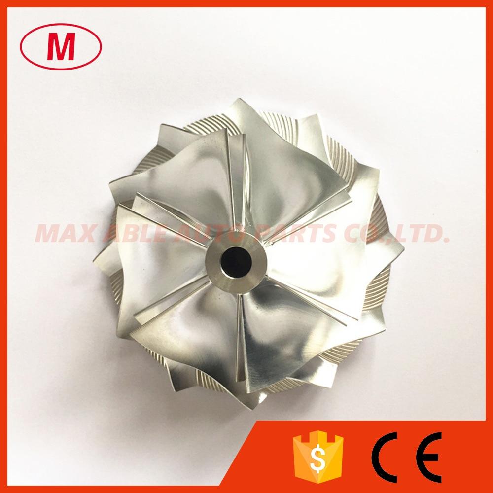 Turbocompresor TD07S 25G Racing de aluminio 2024/fresado/palanquilla Turbo rueda de compresor 60,50mm/78,00mm 6 + 6 cuchillas para TURBO CHRA/Core