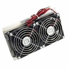 Thermoélectrique pour Peltier Kit de système de refroidissement de réfrigération refroidisseur Double ventilateur bricolage