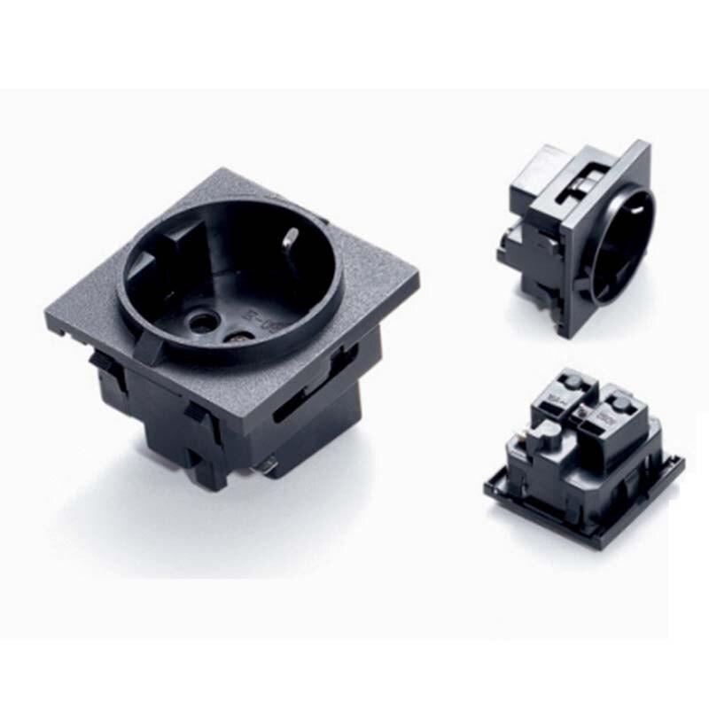 10pcs/lot AC power socket AC250V/10A EU German Industrial Plug Industrial socket Plug German socket Electrical Socket