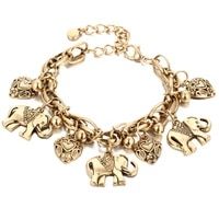 vintage carved elephant foot chain anklets peach heart alloy handmade ankle bracelets for women fashion jewelry wholesale