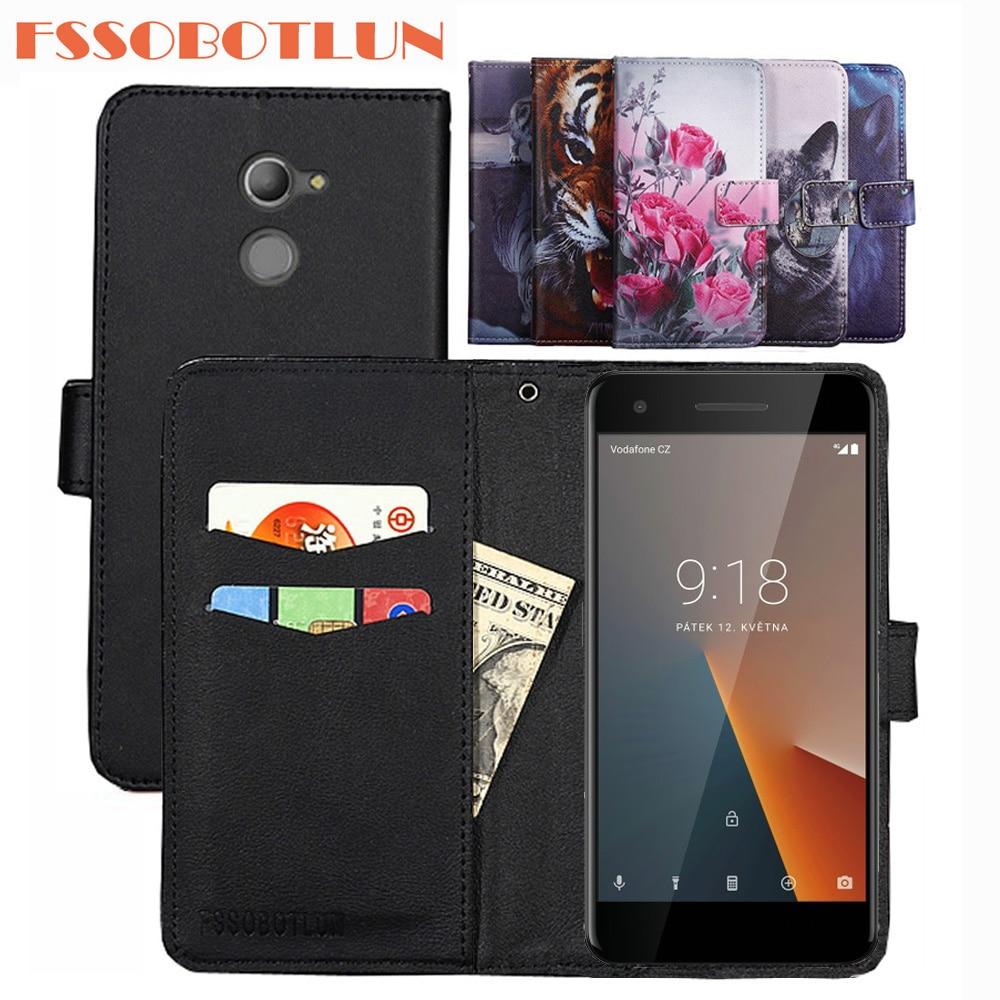 FSSOBOTLUN For Vodafone Smart V8 Case PU Leather Retro Flip Cover Shell Magnetic Fashion Wallet Case